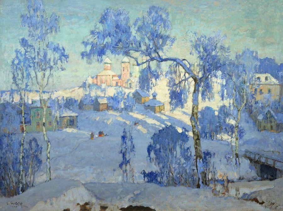 Горбатов К. И. Зимний пейзаж с