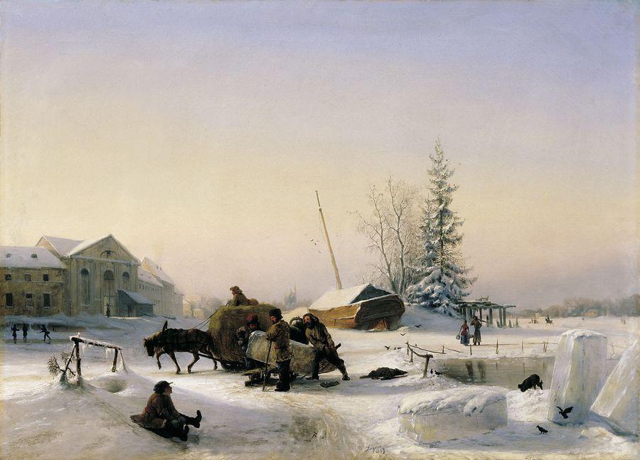 Левитан и и деревня зима 1877 1878