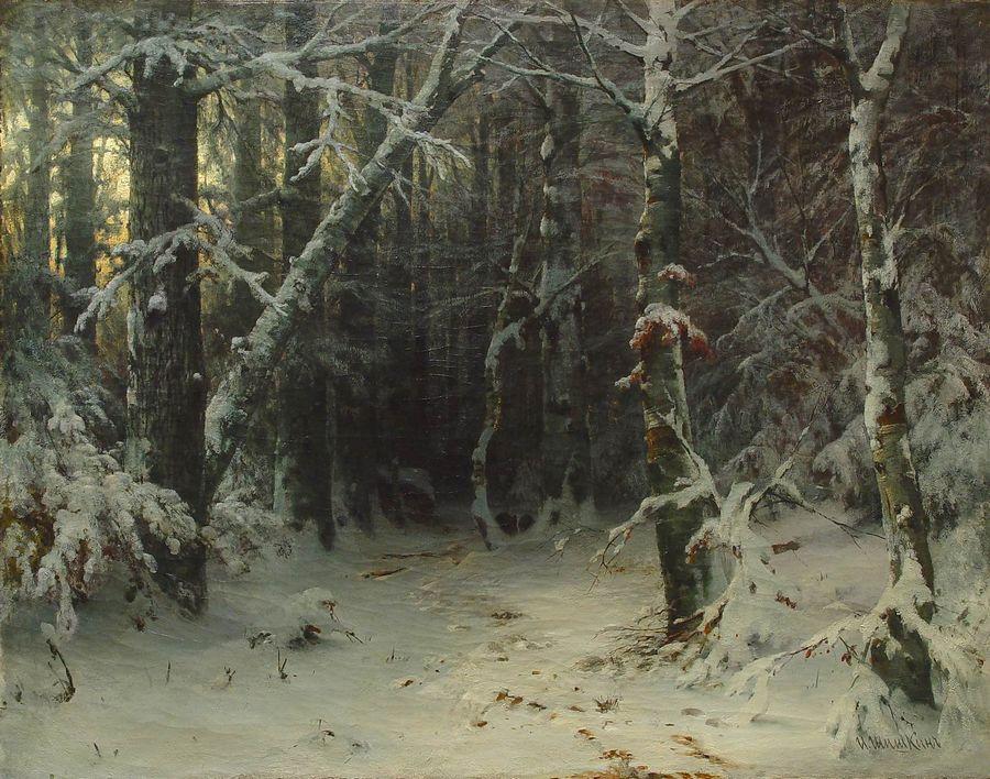 Шишкин и и зимний лес картины
