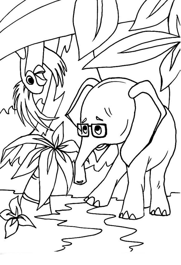 Попугай и Слонёнок