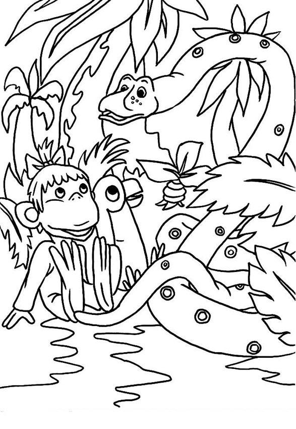 Мартышка, Попугай и Удав
