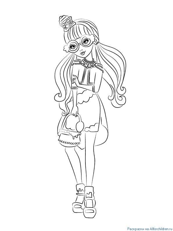 Джинджер Брэдхаус -  дочь конфетной ведьмы из сказки о Гензель и Гретель. Раскраска