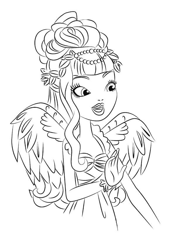 Си-Эй Кьюпид (C.A. Cupid). Раскраска Ever After High