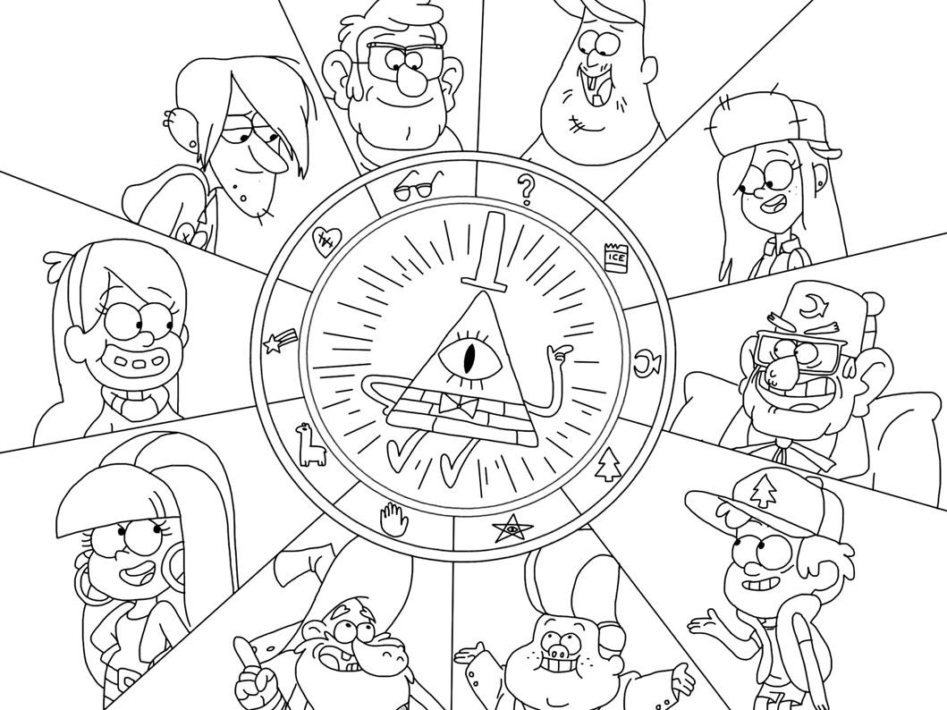 Герои мультфильма «Гравити Фолз». Обои для рабочего стола