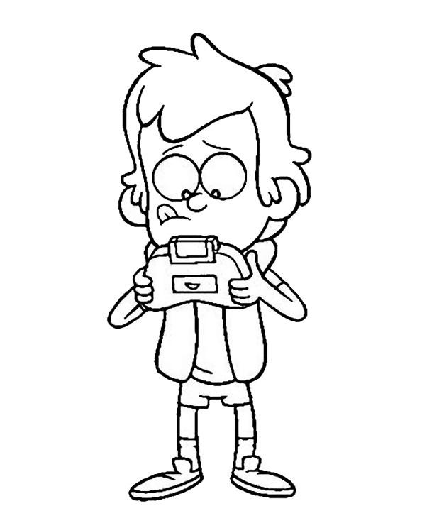 Диппер с игровой консолью