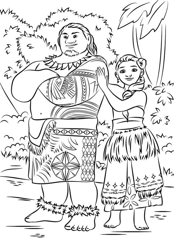 Родители Моаны - вождь Туи и Сина