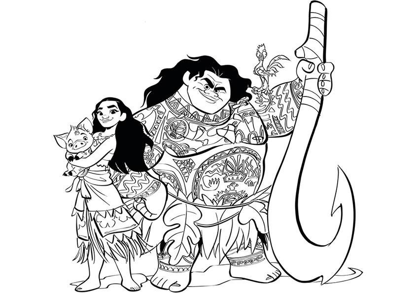 Постер с главными героями мультфильма «Моана»