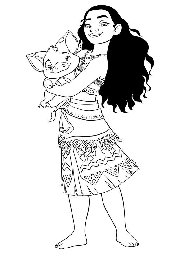 Моана и поросёнок Пуа