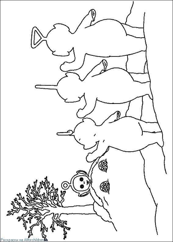 teletubbies tinky winky dipsy laa laa po coloring pages for toddlers