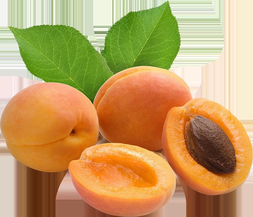 Абрикосы и половинки абрикосов