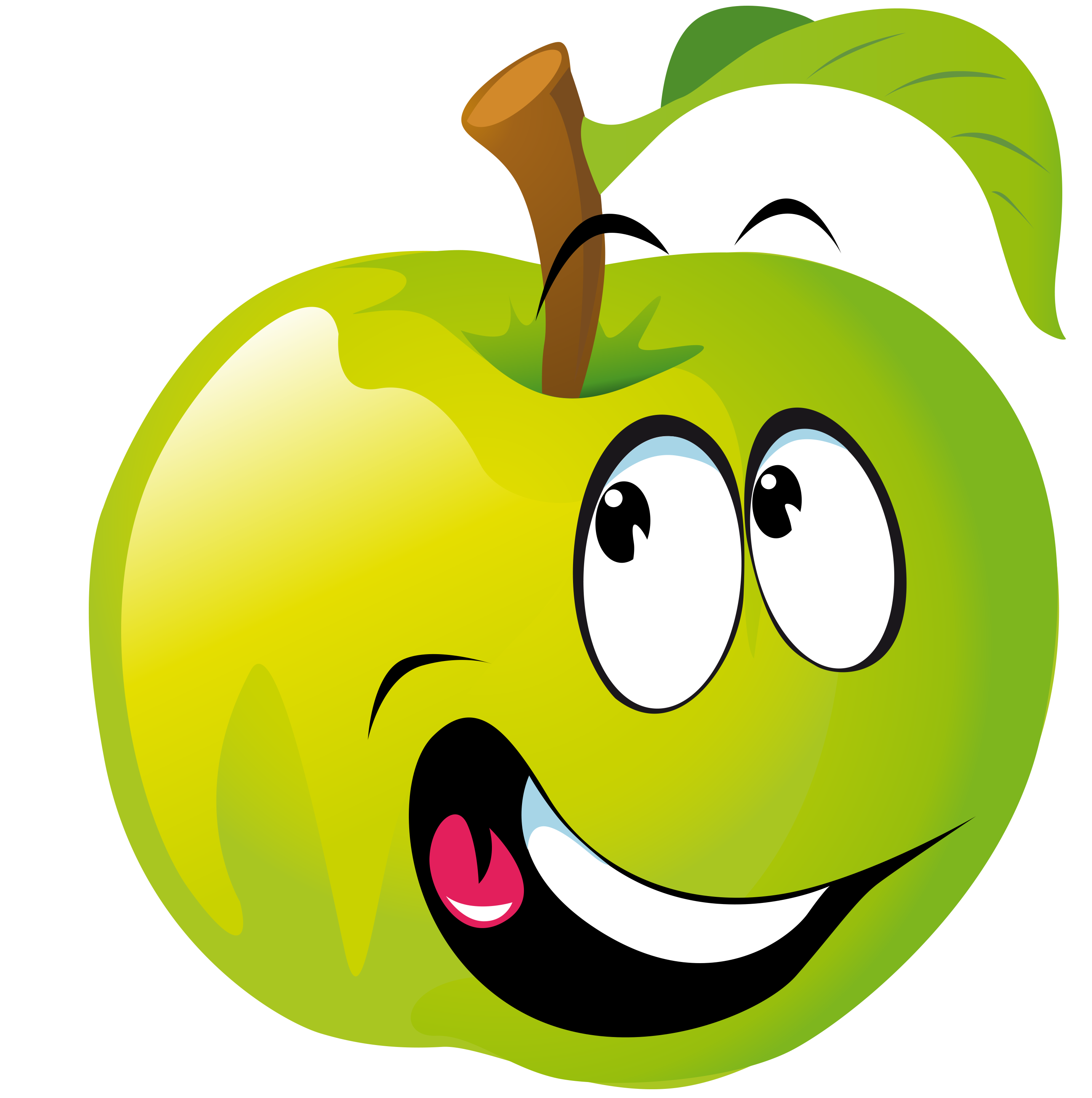 Зелёное яблочко