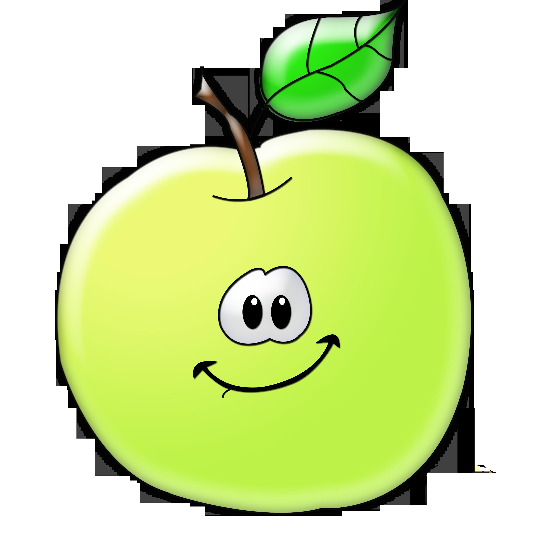 Яблочко. Весёлая картинка