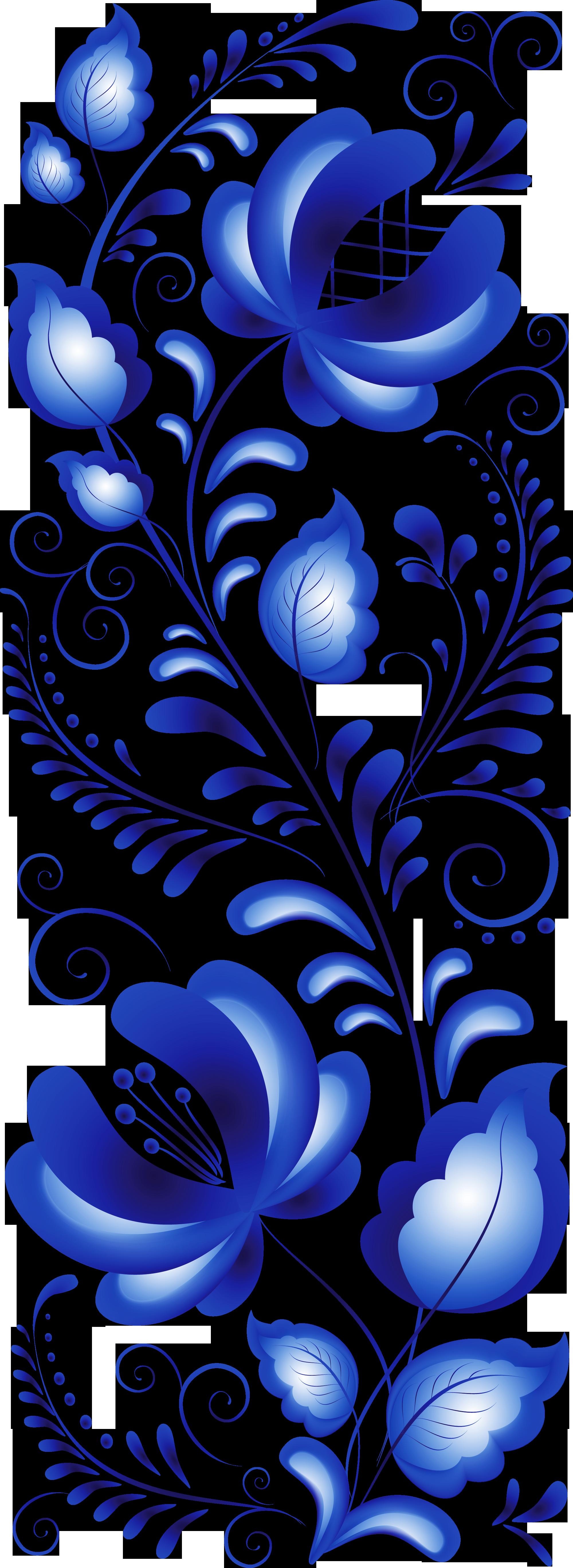Гжель цвета роспись