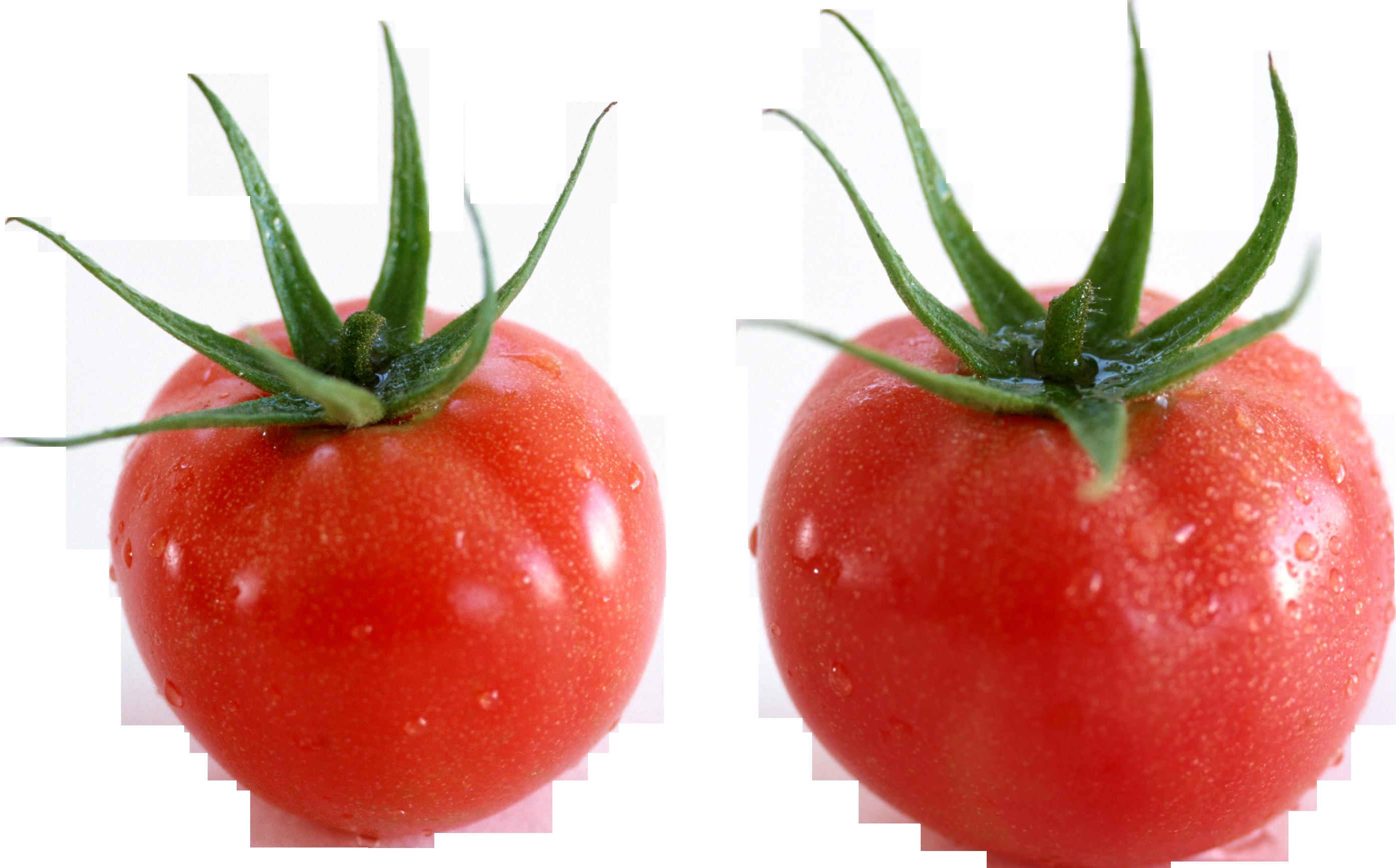 Два помидорчика с черешками
