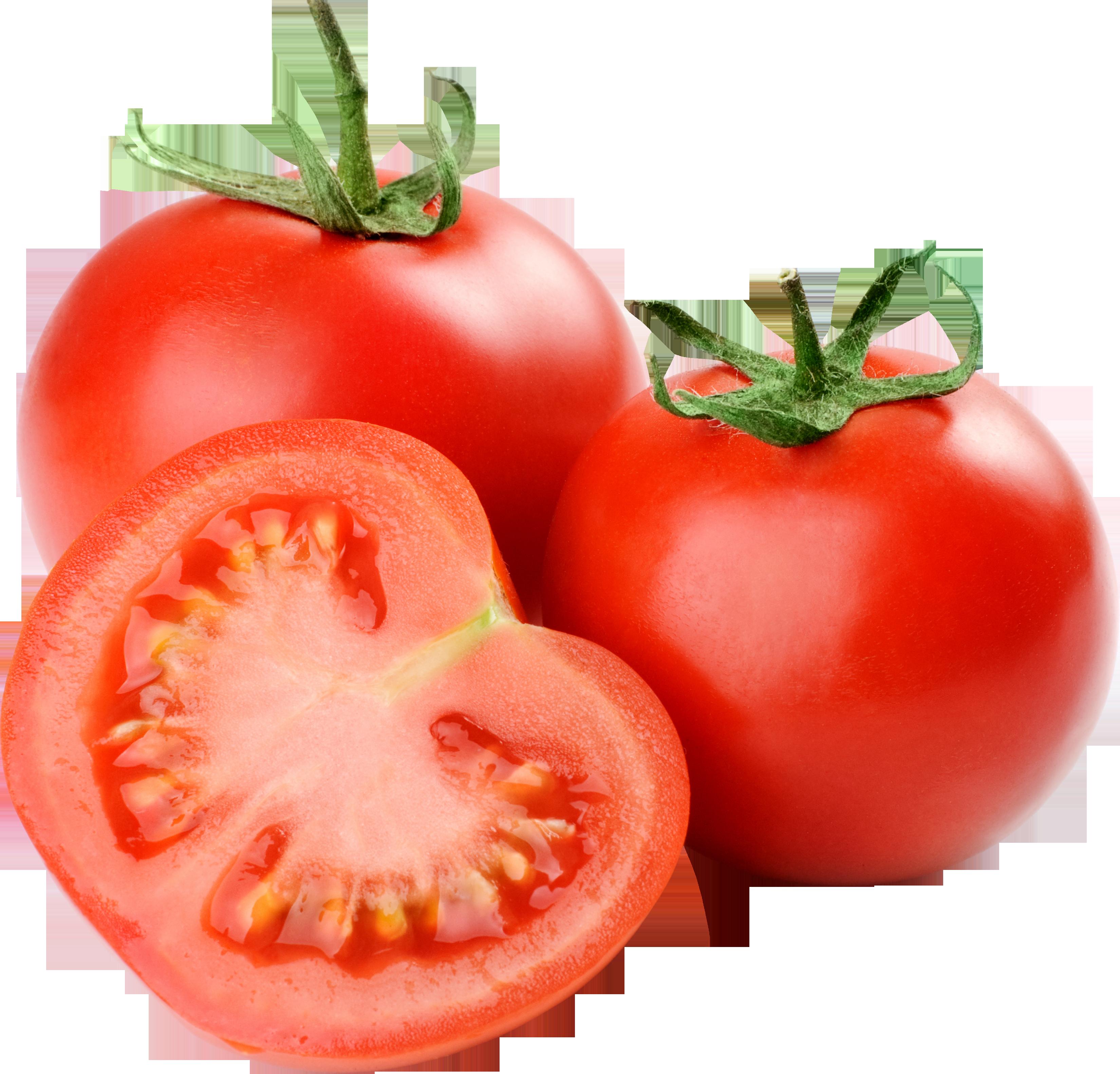 Два целых томата и половинка