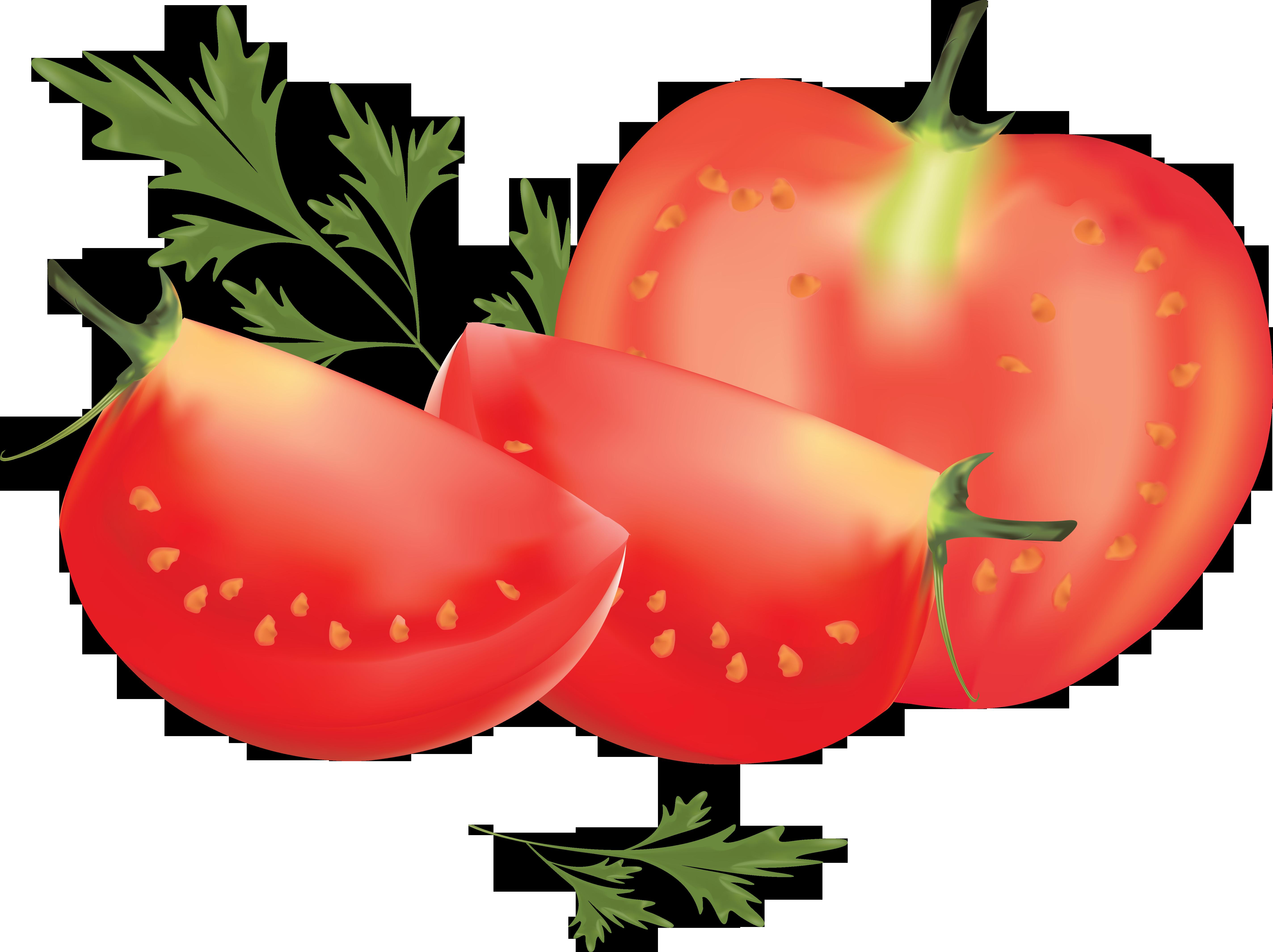 Нарезанный томат и петрушка