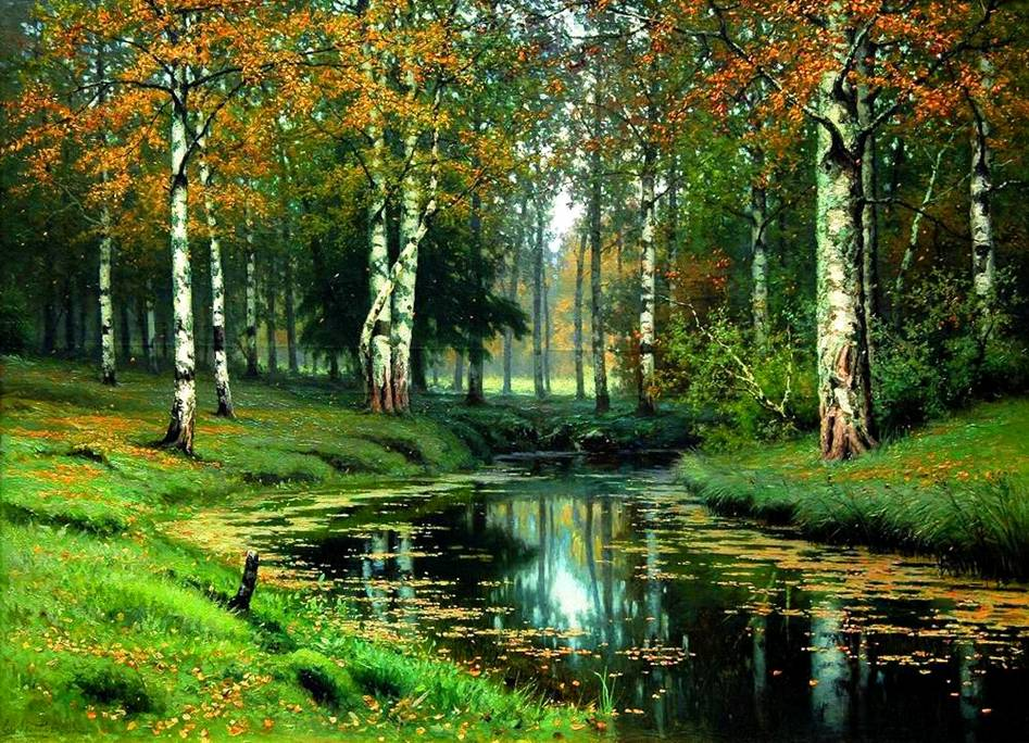 представленном русские пейзажи в открытках она так его
