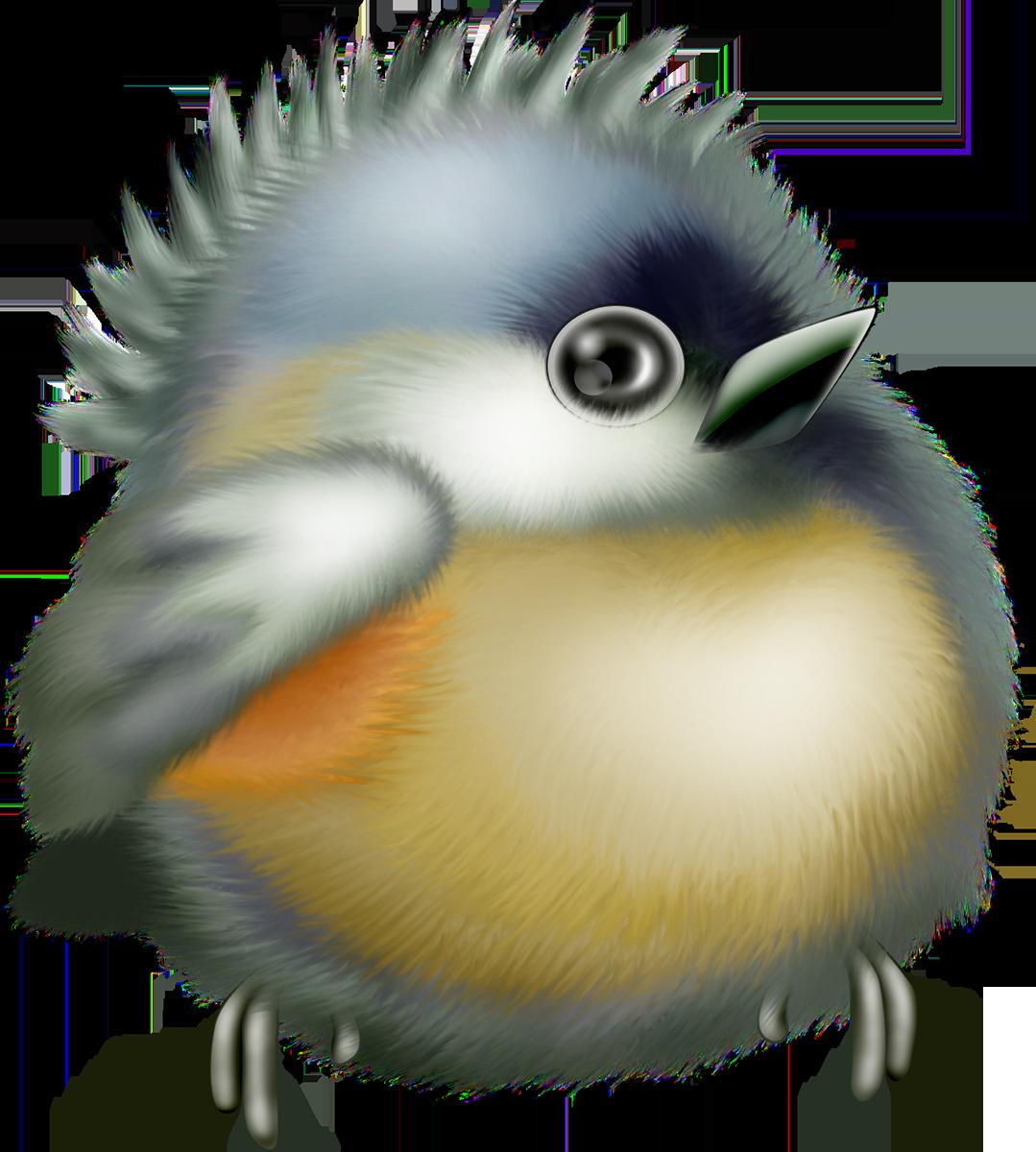 Картинка для детей птенец на прозрачном фоне