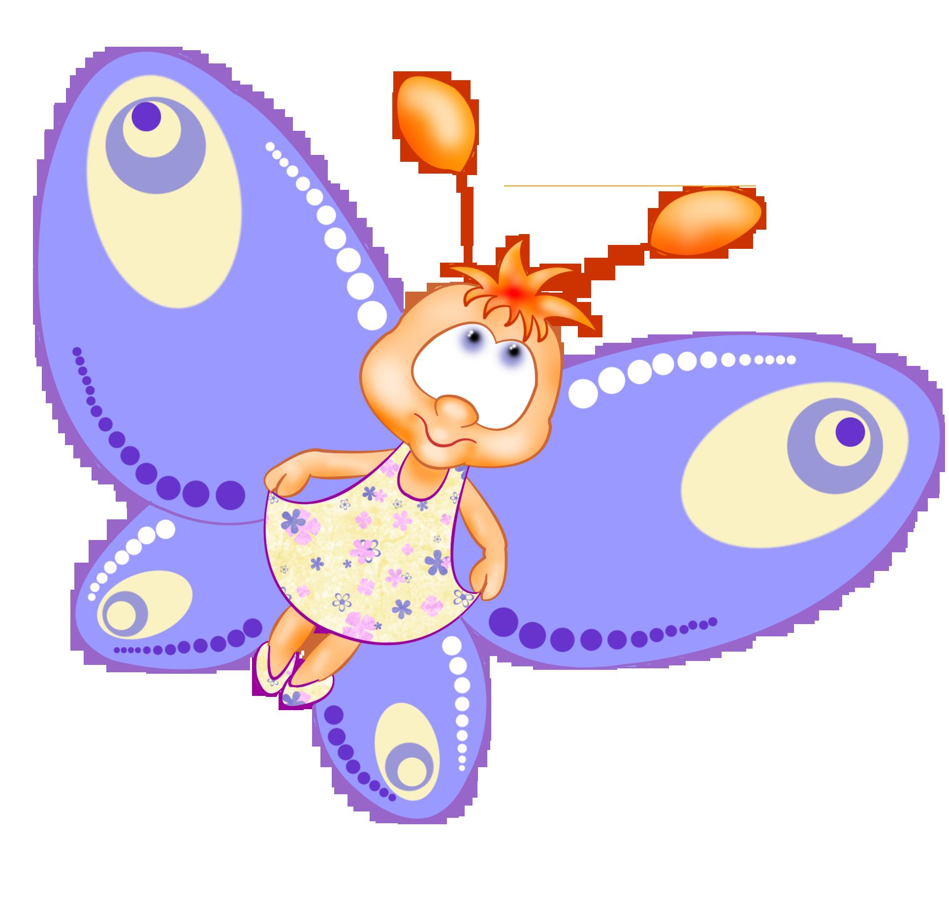 Детские картинки для детского сада бабочка