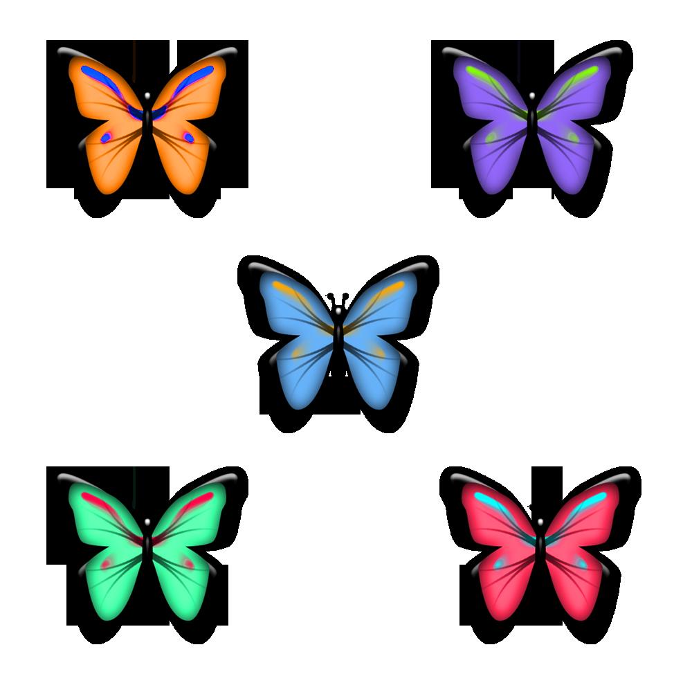 Картинки с бабочками рисованные