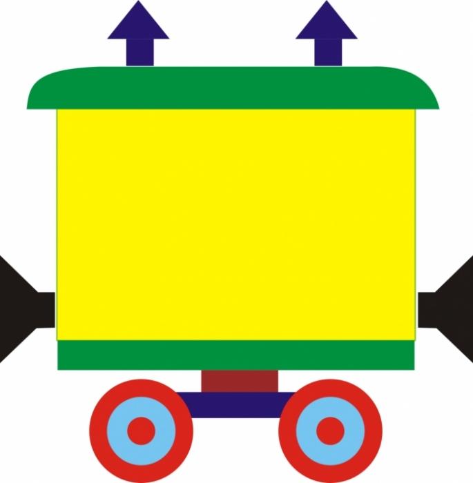 Нарисованные картинки паровозика с вагончиками